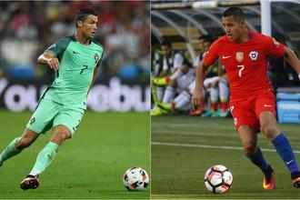 Криштиану Роналду (слева) и Алексис Санчес должны стать главными действующими лицами первого полуфинала Кубка конфедераций