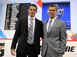 Два первых номера драфта: Тайлер Сегин (слева) и Тэйлор Холл