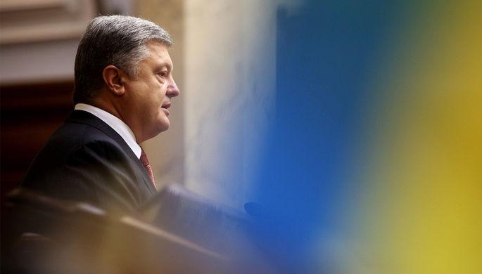 Президент Украины Петр Порошенко во время заседания Верховной рады Украины, 7 сентября 2017 года