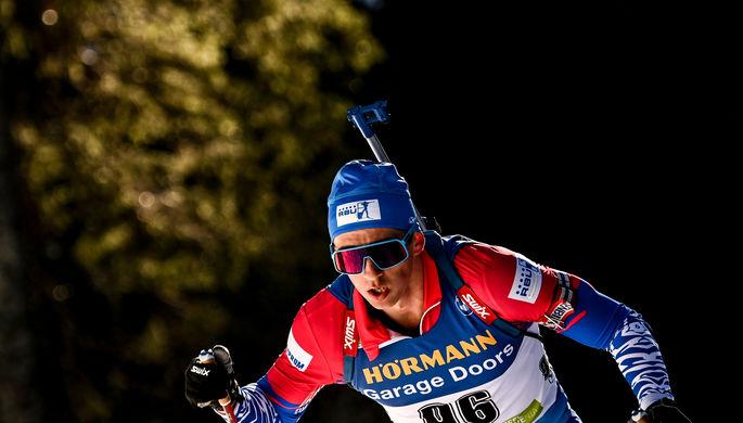 Карим Халили в индивидуальной гонке на чемпионате мира по биатлону — 2021 в словенской Поклюке