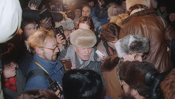 Во время встречи на Ярославском вокзале в Москве