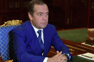 Премьер-министр России Дмитрий Медведев во время встречи с врио губернатора Нижегородской области Глеб Никитин в подмосковной резиденции «Горки», фотография датирована 28 августа 2018 года
