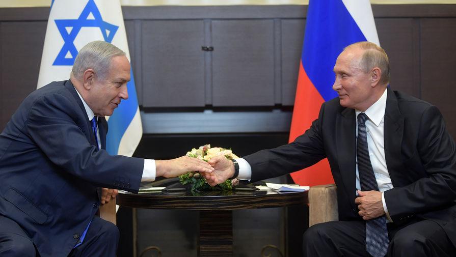 Президент России Владимир Путин и премьер-министр Израиля Биньямин Нетаньяху во время встречи в Сочи, 12 сентября 2019 года