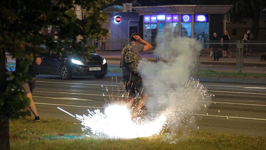 Участники акций протеста в Минске после выборов президента Белоруссии, 10 августа 2020 года