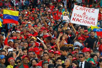 Онлайн-репортаж с прощания с Чавесом