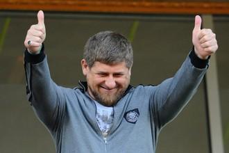 Рамзан Кадыров на одном из матчей «Терека»