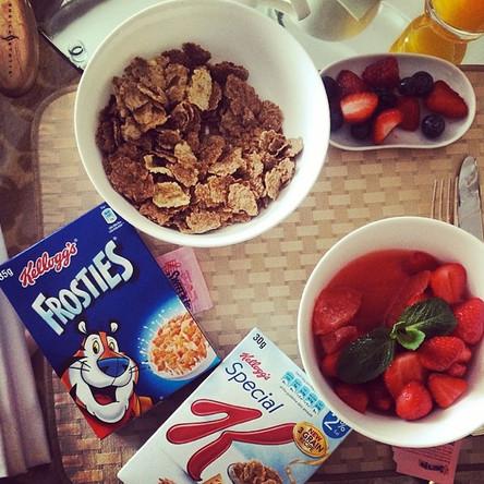 Стандартный завтрак американской киноактрисы и певицы Линдси Лохан