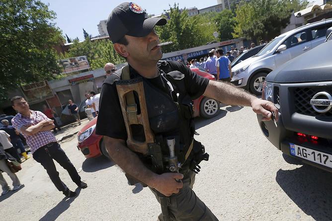 Спецназ в центре Тбилиси