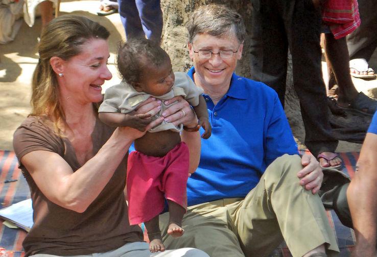 Мелинда и Билл Гейтс в деревне около города Патна в Индии, 2011 год