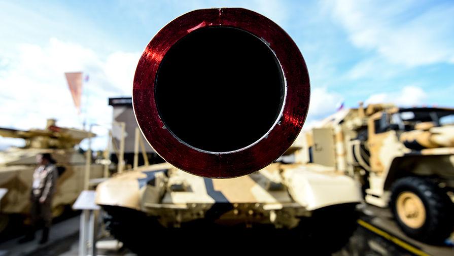 Танк Т-90МС представлен на стенде научно-производственной корпорации «Уралвагонзавод»
