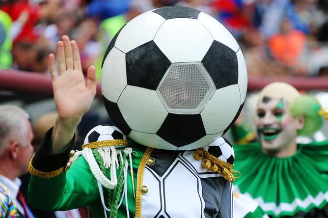 Во время церемонии открытия Чемпионата мира по футболу в Москве, 14 июня 2018 года