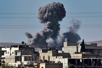 Авиаудары по городу Кобани, Сирия