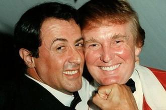 Дональд Трамп и Сильвестр Сталлоне