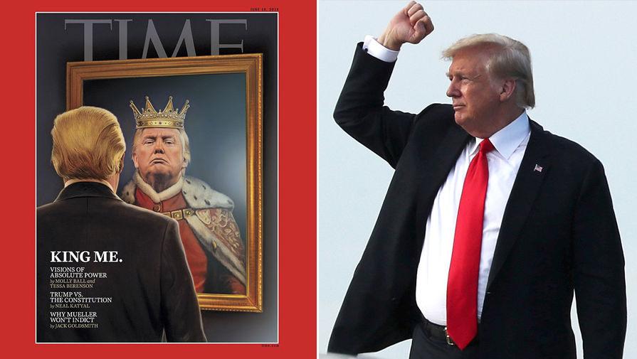 «Я — король»: Time поздравил Трампа с юбилеем