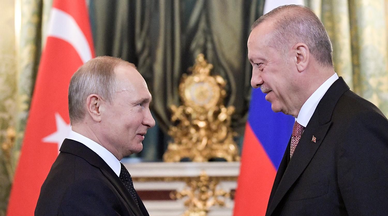 Путин обсудил с Эрдоганом Сирию