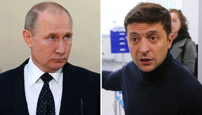 Владимир Путин и Владимир Зеленский (коллаж)