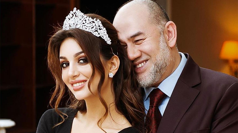Оксана Воеводина и бывший король Малайзии Мухаммад V