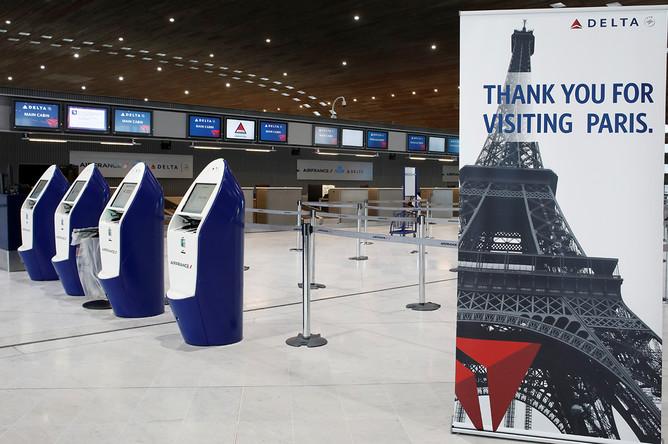Ситуация в аэропорту Парижа, Франция, 16 марта 2020 года