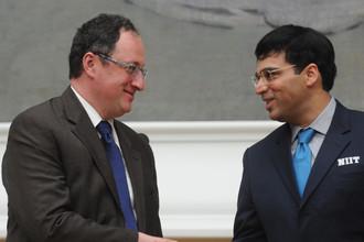 Борис Гельфанд и Вишванатан Ананд перед матчем за мировую шахматную корону