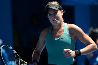 Канадская теннисистка Эжени Бушар впервые в своей карьере вышла в 1/2 финала турниров Большого шлема