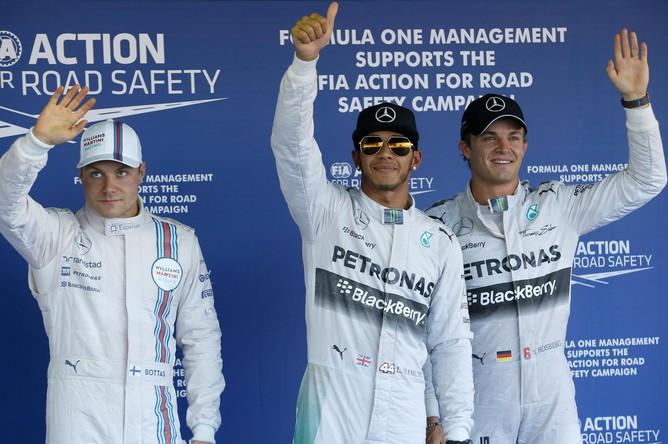 Первая тройка по итогам квалификации Гран-при России