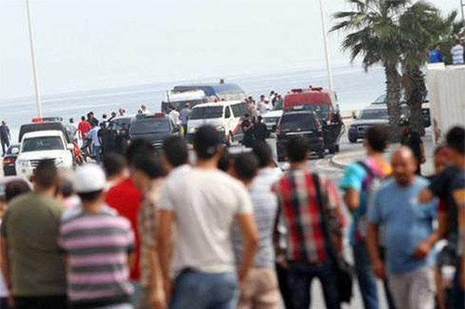 Ситуация возле отелей в Тунисе