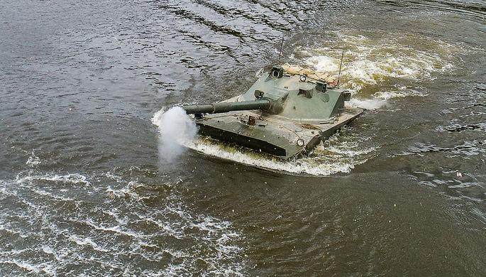 Огонь с моря: в России испытали новый плавающий танк