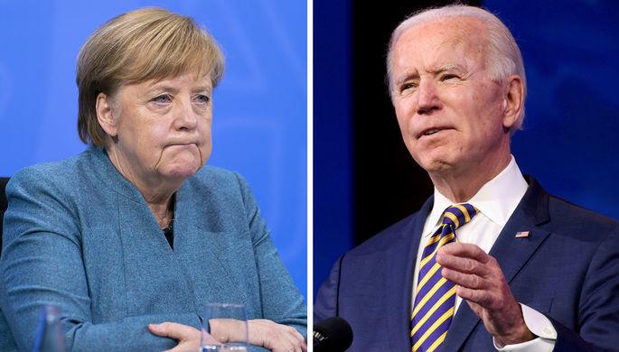 Ангела Меркель и Джо Байден (коллаж)