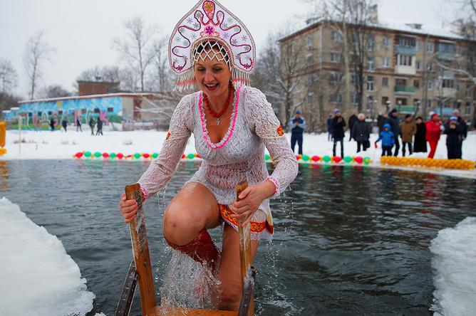 Участница фестиваля «Русская удаль» в Подольске