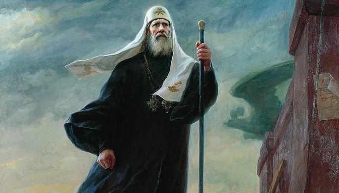 «Патриарх Тихон» (фрагмент картины)