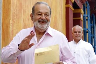 Карлос Слим в конце октября в Колумбии