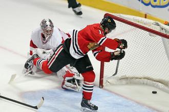«Чикаго» без проблем переиграл «Детройт» на своем льду