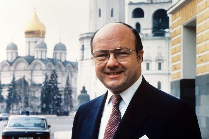 Посол США в СССР Джек Мэтлок в Москве, 1987 год