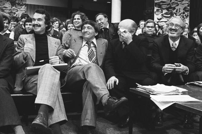 Эдуард Успенский (в центре) в телестудии «Останкино», 1979 год