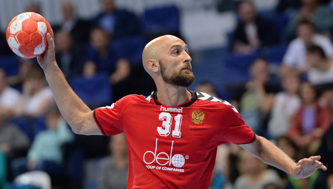 Тимур Дибиров из сборной России по гандболу
