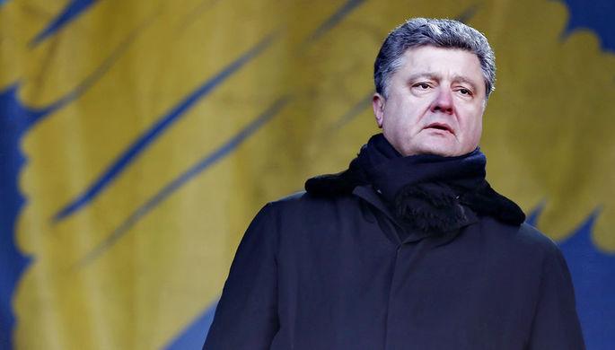 Депутат Верховной рады Украины Петр Порошенко во время «народного вече» на Майдане Незалежности в Киеве, 2 февраля 2014 года