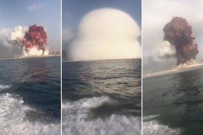 Последствия взрыва в Бейруте, 4 августа 2020 года, коллаж