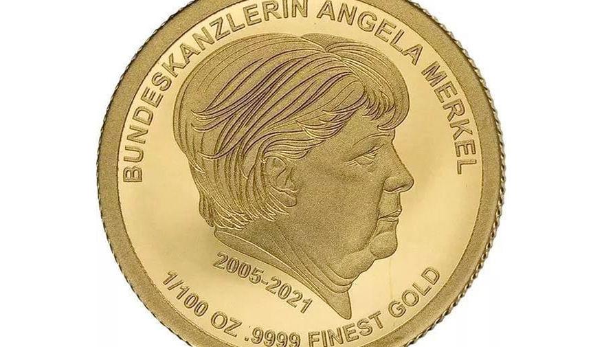 В Германии появились золотые монеты с портретом Меркель