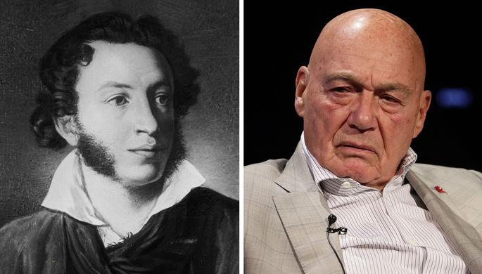 Александр Пушкин и Владимир Познер (коллаж)