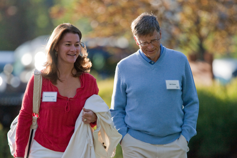 Мелинда и Билл Гейтс на саммите Allen & Co. в штате Айдахо, 2009 год