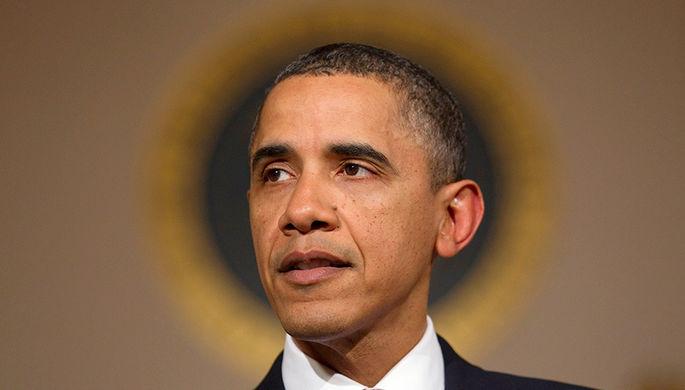 Президент США Барак Обама во время выступления в Белом доме, 1 февраля 2011 года