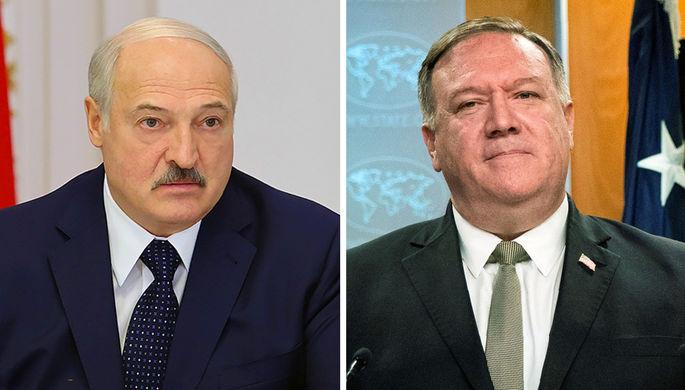 «Нет угрозы»: Помпео пообещал Лукашенко не нападать на Белоруссию