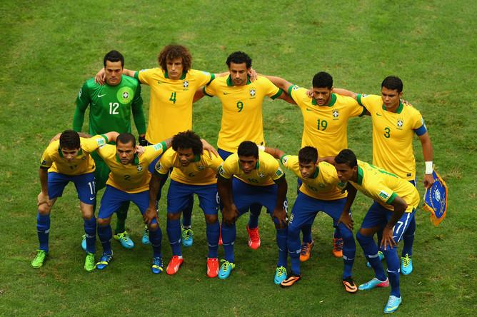 Стартовый состав Бразилии.
