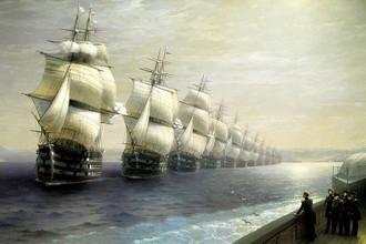 Иван Айвазовский, «Смотр Черноморского флота в 1849 году»