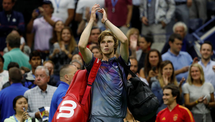 Андрей Рублев проиграл Рафаэлю Надалю в 1/4 финала US Open