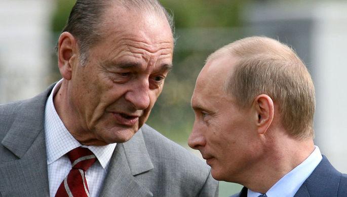 «Не забудем его отношение к России»: Путин попрощался с Шираком