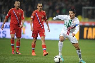 Криштиану Роналду в матче со сборной России