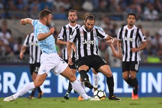 Эпизод матча за Суперкубок Италии по футболу «Ювентус» — «Лацио»