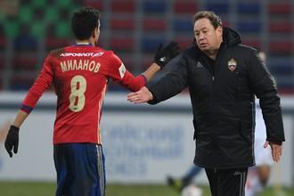 Леонид Слуцкий (справа) и Георги Миланов