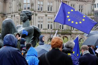 Демонстрация против Brexit в Бирмингеме, Великобритания, март 2017 года